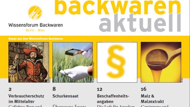 """Die Ausgabe 1/2015 von """"Backwaren aktuell"""" kann heruntergeladen oder als Print-Ausgabe angefordert werden.  (Quelle: Verband)"""