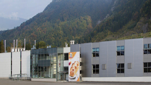 Die Produktionsstätte in Wallenmahd ist einer der Standorte der Rudolf Ölz Meisterbäcker GmbH. (Quelle: Unternehmen)