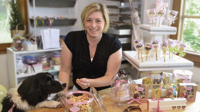 Hündin Gem hat Besitzerin Nina Lemke zur Geschäftsidee mit der Tierconfiserie inspiriert. (Quelle: Klaus)