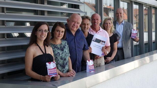 Die Jury hat den BakerMaker-Preisträger bestimmt: Debora Gatti, Katharina Ott, Gerold Heinzelmann, Reinald Wolf, Bernd Siebers, Heike Kinkopf und Bernd Kütscher.  (Quelle: Kauffmann)