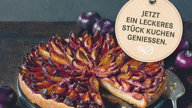 Pflaumenkuchen findet im Herbst bei den Kunden Anklang. (Quelle: Zentralverband des Deutschen Bäckerhandwerks)