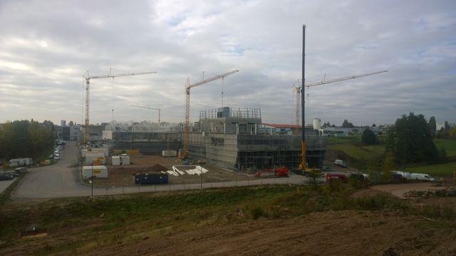 Die neue Halle nimmt Gestalt an. Demnächst soll der Innenausbau erfolgen. (Quelle: Unternehmen)