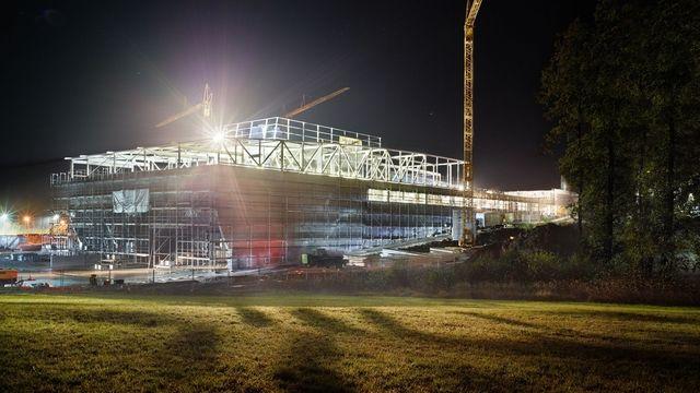 Die Arbeiten für die neue Produktionsstätte liegen im Zeitplan. (Quelle: Pfalzgraf Konditorei)