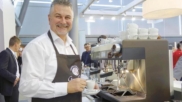Auf der Messe in Stuttgart haben zahlreiche Aussteller auch das Thema Kaffee in vielfältiger Weise bedient. (Quelle: Wolf)