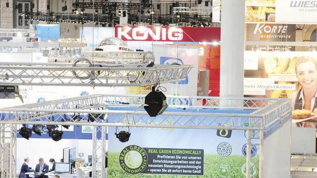 In der B6 als der größten Messehalle der Internorga präsentieren sich Firmen für die Backbranche. (Quelle: HMC/Zapf)