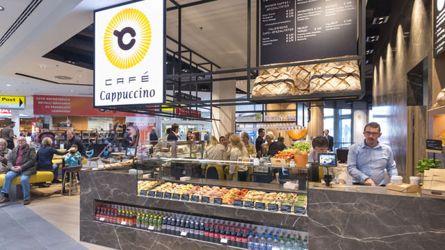 So sieht es aus - das neue Café Cappuccino. (Quelle: Interspar/Krug)
