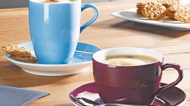 Modern und trotzdem zeitlos: Das Geschirr für Heißgetränke, Gebäcke und Snacks soll verschiedene Zielgruppen ansprechen und für ganzheitlichen Genuss des Servierten sorgen. (Quelle: Hersteller)