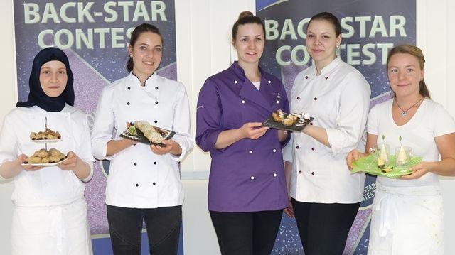 Die Back Star-Finalistinnen (von links): Emine Aydin, Carina Höhnel, das Team Ricarda Oberst und Sarah Weiß sowie Fiona Gaissmaier. (Quelle: Kauffmann)