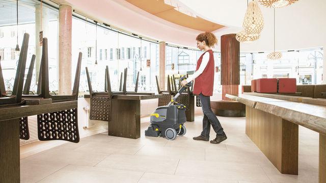 Klein, kompakt und bedienerfreundlich sollen sie sein: Scheuersaugmaschinen für Laden und Café. (Quelle: Hersteller)