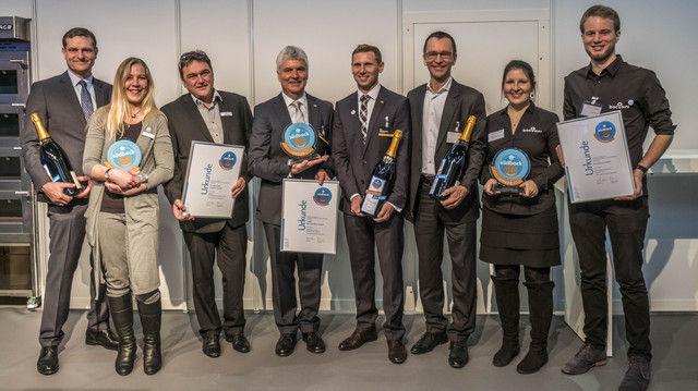 Die Gewinner des Trend Awards bei der Preisverleihung auf der Südback.  (Quelle: Messe Stuttgart)
