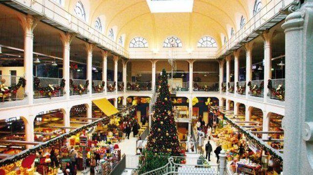 Den passenden Rahmen für die Verkaufsförderaktion gab die Neustädter Markthalle, ein aufwändig restaurierter Jugendstilbau mitten in Dresden, ab.  (Quelle: Dreilich)