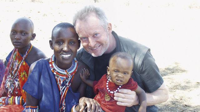 Begegnung mit den Massai am Kilimanjaro. (Quelle: privat)