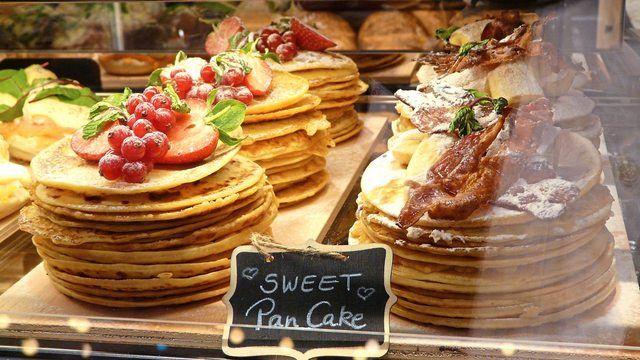 Pancakes vom Bäcker als Idee der Konzeptwerkstatt Merge. (Quelle: Wolf/Kauffmann)