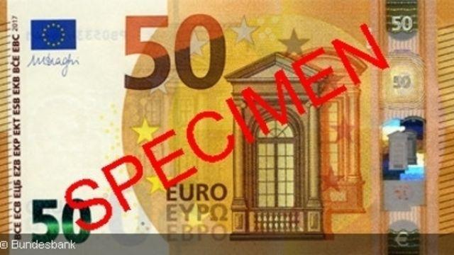 So sieht er aus, der neue 50€-Schein der EZB. (Quelle: Bundesbank)