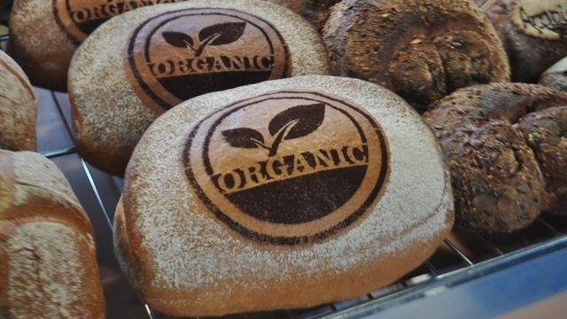 Bio-Bäcker zeigen, wie sie ihr Brot herstellen. (Quelle: Archiv)