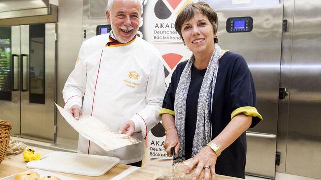 Brot-Treffen: Margot Käßmann und Michael Wippler. (Quelle: ZV)