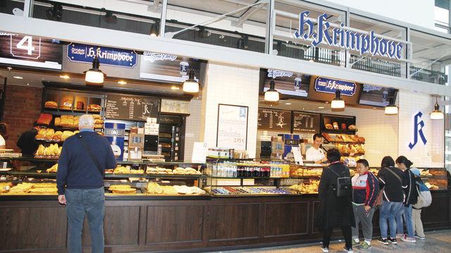 Die neue Filiale der Bäckerei Krimphove im Hauptbahnhof von Münster. (Quelle: Heck)