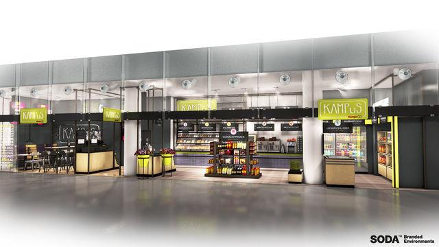 Modellzeichnung des neuen Kampus-Konzepts am Flughafen Köln/Bonn. (Quelle: Unternehmen)