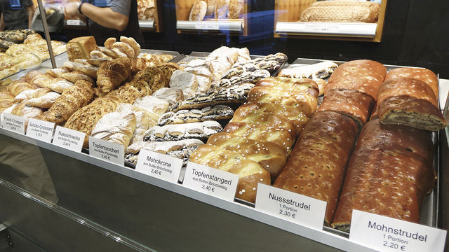 Auch das Plundersortiment der Bäckerei Brandl kann sich sehen lassen. (Quelle: Wolf/Unternehmen)