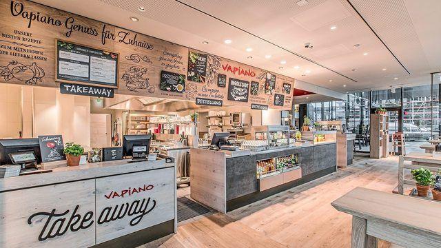 Vapiano stattet viele seiner Restaurants mit einer Take-Away- und Lieferservice-Theke aus. (Quelle: Unternehmen)