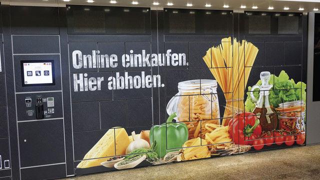 Edeka-Testprojekt am Stuttgarter Hauptbahnhof: online bestellen und auf dem Heimweg abholen. (Quelle: Kauffmann)