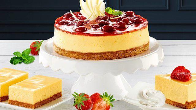 American Cheesecake - Amerikanischer Käsekuchen - gehört zu den Sorten, die bei jungen Leuten gut ankommen. (Quelle: Unternehmen/CSM)