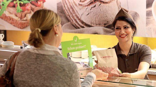 In der Anker-Filiale am Stephansplatz werden ausschließlich vegane Produkte angeboten. (Quelle: Unternehmen)
