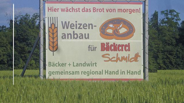 Eine Nachricht als Versprechen: Hier wird der Zusammenhang zwischen Weizen, Region und Brot deutlich. (Quelle: Archiv)
