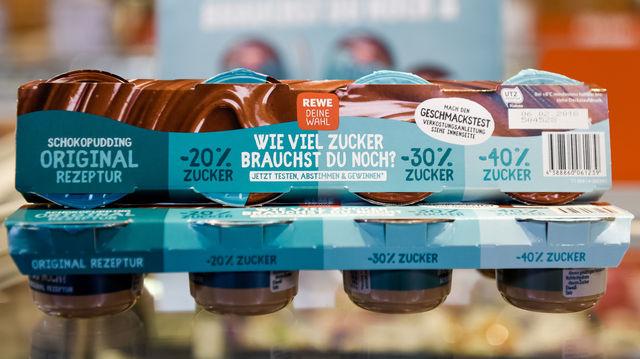 Der Schokopudding mit 30 Prozent weniger Zucker ist der Gewinner der Zuckerkampagne von Rewe.  (Quelle: Sandra Ritschel-sr/ Rewe)