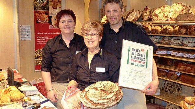 Auf der Slow Food Messe in Stuttgart wird das traditionelle Genuss-Handwerk hochgehalten. Wie hier von der Bäckerei Hönnige.  (Quelle: Archiv/ Küchle)