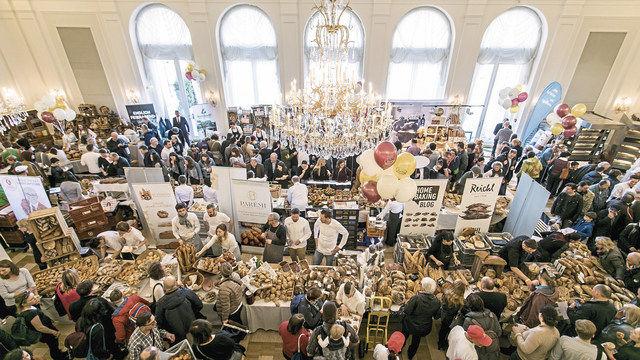 Ganztägig großer Andrang: Das Brotfestival 2018 im Wiener Kursaal Hübner. (Quelle: Lorenz)