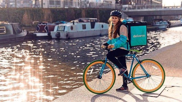 Boomendes Segment: Essenskuriere, zum Beispiel per Fahrrad, flitzen häufig durch deutsche Großstädte.  (Quelle: Unternehmen)