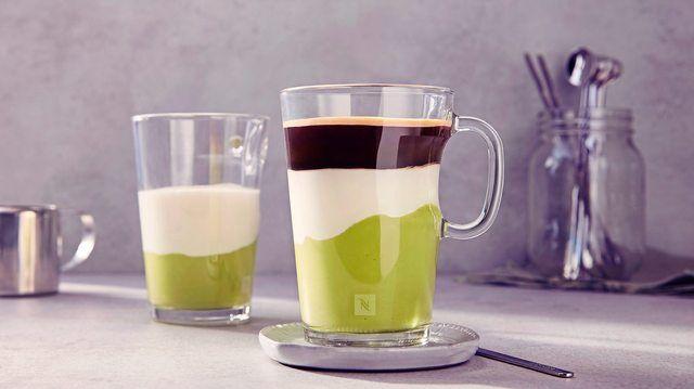 Geschichtet wie ein Latte Macchiato: der Frühstücks-Shake Avocado Coffee. (Quelle: Nespresso)