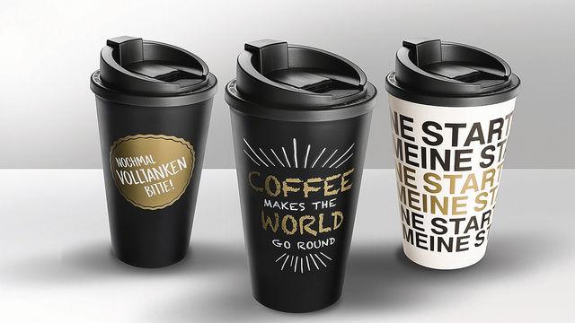 Bei Esso werden jetzt Mehrwegbecher mit Tchibo-Kaffee betankt. (Quelle: Unternehmen)
