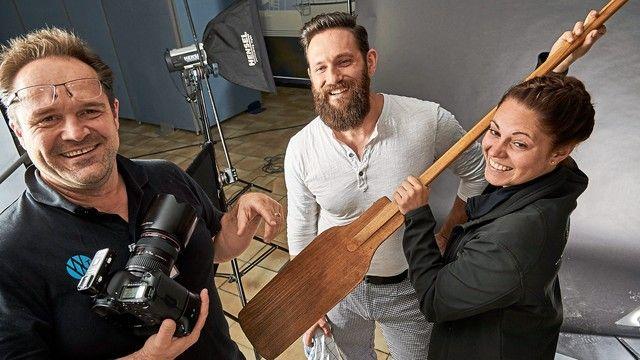 Beim Foto-Shooting  werden die Kandidaten ins passende Licht gerückt. (Quelle: Dt. Handwerksblatt)