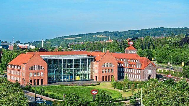 Blick auf den Dr. Oetker-Standort in Bielefeld. (Quelle: Unternehmen)
