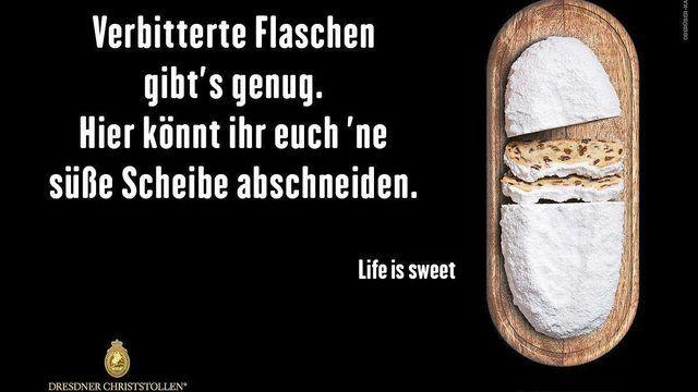 Plakat-Werbekampagne der Dresdner Stollenbäcker. (Quelle: Schutzverband Dresdener Stollen)