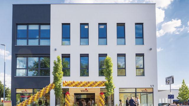 Das neue Café-Haus im Pfullinger Gewerbegebiet. (Quelle: Betrieb)