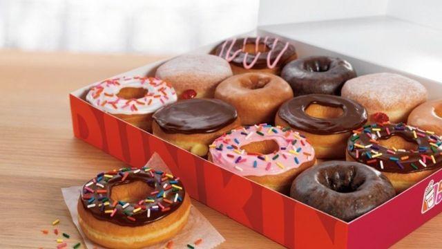 Donuts-Varianten: Damit versucht Dunkin' Donuts auch in Europa Umsatz zu machen. (Quelle: ABZ-Archiv)