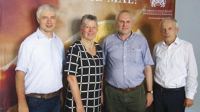 Landesinnungsmeister Martin Reinhardt (von links) mit Brigitte Ewald, Josef A. Hartmayer und Verbandsgeschäftsführer Andreas Kofler. (Quelle: privat)