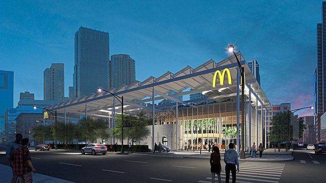 So sieht sie aus: Die neue McDonald's-Filiale in Chicago. (Quelle: McDonald's)