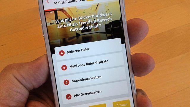 Eine spezielle App bietet Quizvergnügen für Bäcker.  (Quelle: Akademie Weinheim)