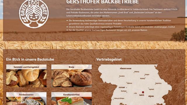 Das Vertriebsgebiet der Gersthofer Backbetriebe erstreckt sich über ganz Süddeutschland. (Quelle: ABZ-Screenshot)
