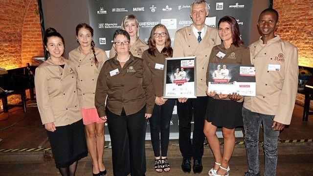 Gewinner Kategorie Kleinbetriebe: Heinrich Poeth mit Mitarbeitern. (Quelle: Wolf)
