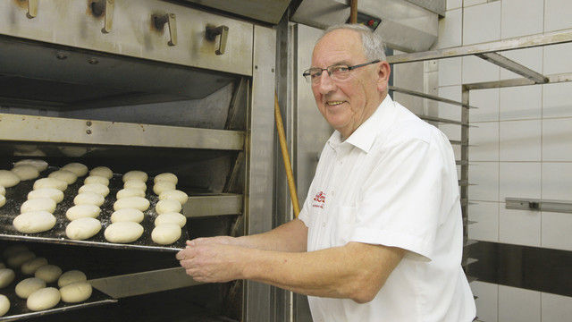 Im Hauptberuf Bäcker: Erich Lehnen. (Quelle: Heck)