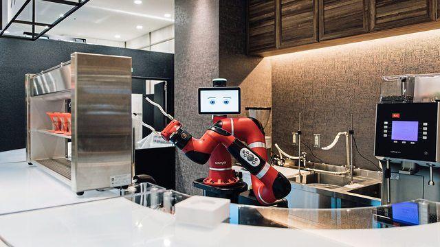 Ein Roboter als SYervicekraft im Coffee Shop: Sieht so die Zukunft aus?  (Quelle: Melitta)