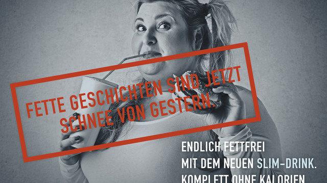 """Eine Diskriminierung aufgrund des Aussehens ist anzunehmen, wenn übergewichtige Menschen gegenüber """"idealgewichtigen"""" Menschen herabgesetzt werden. Dies kann der Fall sein, wenn sie als unattraktiv oder unansehnlich quasi """"abgestempelt"""" werden. (Quelle: Deutscher Werberat)"""