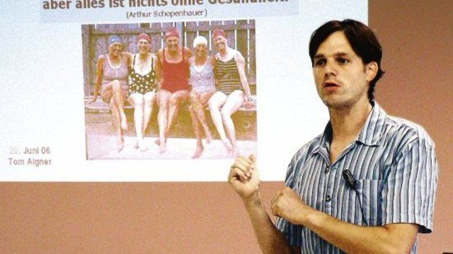 """Diplom-Sportwissenschaftler Tom Aigner zitierte Schopenhauer: """"Ohne Gesundheit ist alles nichts.""""  (Quelle: Buchmann)"""