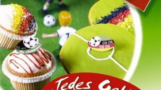 Muffins im Fußballer-Design versüßen die Europameisterschaft.