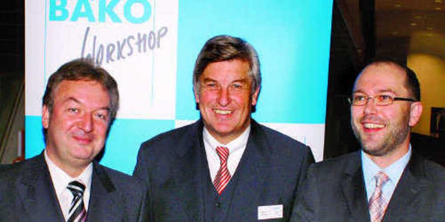 Macher und Veranstalter des Bäko-Workshops (von links): Holger Knieling, Chef der Bäko-Zentrale Süddeutschland, ZV-Präsident Peter Becker und Marcus Höffer, Marketingleiter der Bäko-Zentrale Süddeutschland.